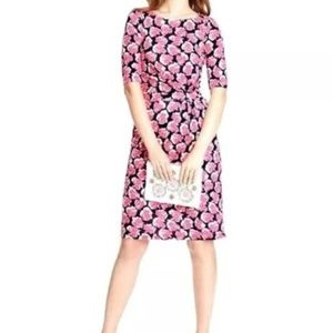 Boden Annie Floral Jersey Knit Midi Dress